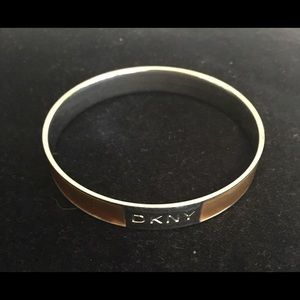 DKNY gold and silver bangle
